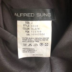 ALFRED SUNG Dresses - Alfred Sung Black Formal Dress — D610 style
